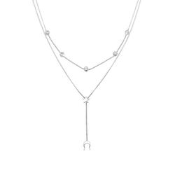 Elli Gliederkette Halbmond Stern Kristalle Silber