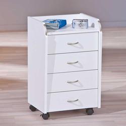 Schreibtischrollcontainer in Weiß 40 cm breit
