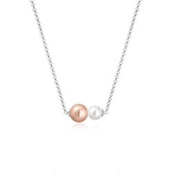Elli Perlenkette Erbskette Perlen Kristalle 925 Silber
