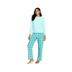 Fleece Pyjama-Set mit gemusterter Hose - XS - Blau