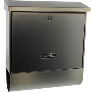 Burg-Wächter Briefkasten-Set mit Zeitungsbox, A4 Einwurf-Format, EU Norm EN 13724, Inkl. 2 Schlüsseln, Edelstahl, Inox-Star 4730 Ni