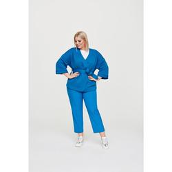 Kimono-Jacke mit Bindegürtel Rock Your Curves by Angelina K Blau