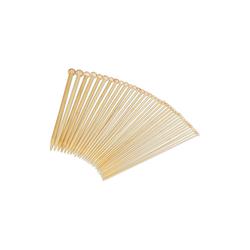 relaxdays Nähmaschine Stricknadeln 36er Set aus Bambus