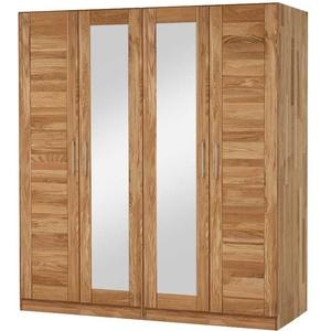 Drehtürenschrank aus Wildeiche Massivholz Spiegeltüren