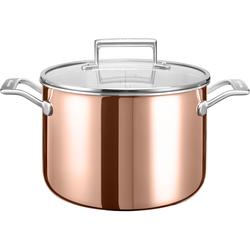KitchenAid Suppentopf, Edelstahl 18/10, (1 tlg.), Ø 24 cm, Induktion braun Suppentöpfe Töpfe Haushaltswaren Suppentopf