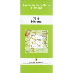 Topographische Karte Baden-Württemberg Bühlertal