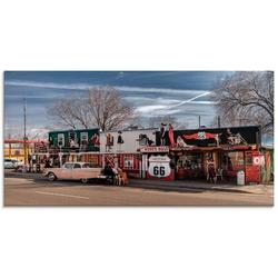 Artland Glasbild Historische Route 66 in Seligman, Amerika (1 Stück)