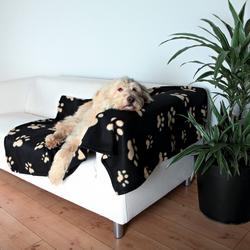 Trixie Fleecedecke Barney schwarz/beige