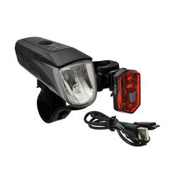 Büchel Fahrradbeleuchtung Büchel LED-Batterie-Beleuchtungs-Set BLC 710 schwa