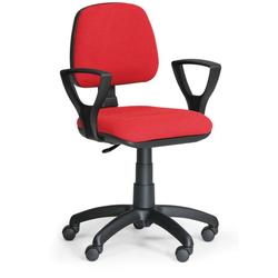 Bürostuhl milano mit armlehnen, rot
