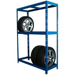 SZ METALL Schwerlastregal für 12 Reifen blau