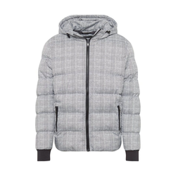 URBAN CLASSICS Steppjacke Hooded Check Puffer Jacket