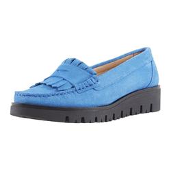 Slipper mit Penny-Loafer-Element blau 37