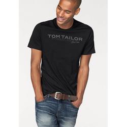 TOM TAILOR T-Shirt mit Logoprint schwarz
