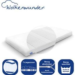 Wolkenwunder Kindermatratze Jugendmatratze mit Hygienesiegel für einen erholsamen Schlaf  Bezug waschbar... 140x200 cm