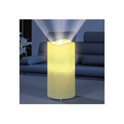 EASYmaxx LED-Kerze, inkl. Projektor mit 4 Schablonen in creme