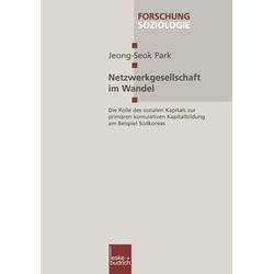 Netzwerkgesellschaft im Wandel als Buch von Jeong-Seok Park