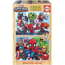 Educa - Marvel Super Hero 2x25 Teile Puzzle