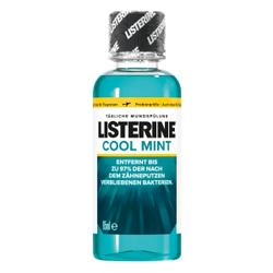 LISTERINE® Cool Mint Mundspülung, Mundwasser zur Bekämpfung von Zahnbelag und für frischen Atem, 95 ml - Flasche