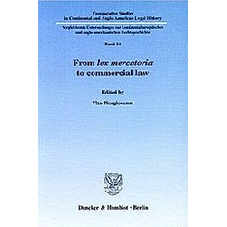 From lex mercatoria to commercial law. - Buch