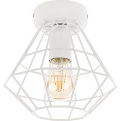 Licht-Erlebnisse Deckenleuchte DIAMOND Weiße Deckenlampe Metall modern Wohnzimmer Esszimmer Lampe