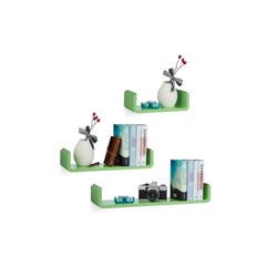 relaxdays Wandboard Regalbrett 3er Set grün