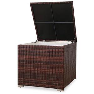 SVITA Kissenbox LUGANO / CALIFORNIA (Erweiterungsartikel, 1 Stück, Box), UV-Lichtbeständig, wetterfest, langlebig, Stauraum mit Innenbezug braun