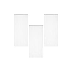 Fadenvorhang 3 x Fadenvorhang weiß 90x245 cm, relaxdays