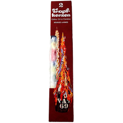 Idena Formkerze Tropfkerzen (Set, 2-tlg., Kerzen), ca. 30 cm, Stabkerzen, Tafelkerzen, Dekokerzen, Spitzkerzen