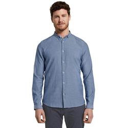 TOM TAILOR Langarmhemd mit modischer Kragenform blau XL (52/54)