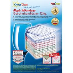 TELESHOP Geschirrtuch CleverCleanMagic Mikrofaser (Set, 12-tlg.) bunt Aufbewahrung Küchenhelfer Haushaltswaren Geschirrtücher