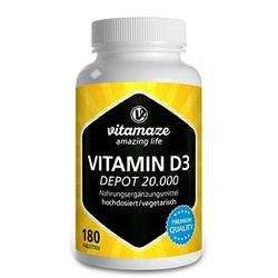 VITAMIN D3 20.000 I.E. Depot hochdosiert Tabletten 180 St