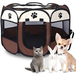 Faltbares Haustier Zelt, Welpenlaufstall Hundelaufstall Tragbar Tierlaufstall Hundeauslauf für Hunde Hasen Meerschweinchen Katzen für Innern Oder Außen,600D Oxford-Stoff