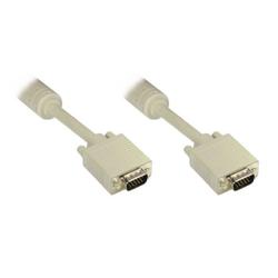 Good Connections VGA Kabel 10m Premium Monitorkabel 15pol HD St/St weiß