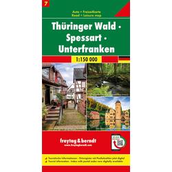 Thüringer Wald - Spessart - Unterfranken Autokarte 1:150.000 Blatt 7
