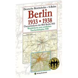 Übersichtskarte der Reichsbahndirektion Berlin 1933: Buch von