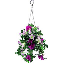 Kunstpflanze Hängeampel Petunien Petunien, Höhe 50 cm