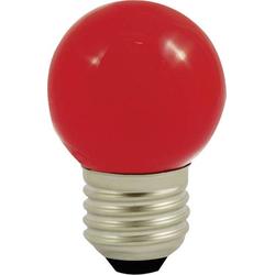 LightMe LED E27 Tropfenform 1W Rot (Ø x L) 45mm x 70mm 1St.