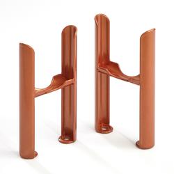 Füße für Regent 3-Säulen Heizkörper - Metallisches Kupfer, von Hudson Reed
