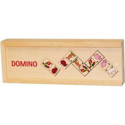 Domino aus Holz Tiermotive im Holzkasten WG090