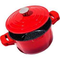 KING Schmortopf Shine Red, Aluminiumguss, (1 tlg.), Induktion rot Schmortöpfe Töpfe Haushaltswaren