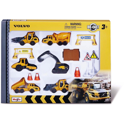 Maisto® Spielzeug-Auto Volvo Baufahrzeuge Set, (Set)