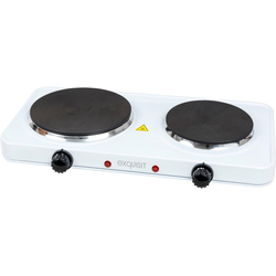 exquisit Doppelkochplatte KP 3201 we, mobiles Kochen für Indoor und Outdoor