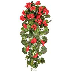 Kunstpflanze Geranienhänger, Creativ green, Höhe 80 cm