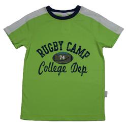 STUMMER T-Shirt Stummer T-Shirt hellgrün Rugby camp (1-tlg) 140