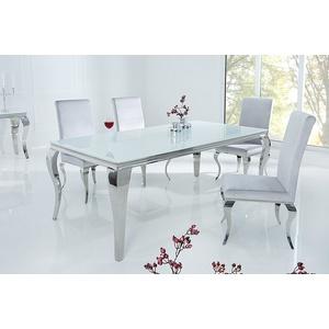 riess-ambiente Esstisch MODERN BAROCK 180cm weiß, Tischplatte aus Opalglas