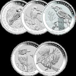 1 kg Silber Kookaburra diverse Jahrgänge
