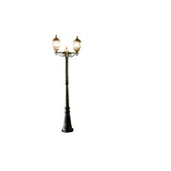 Licht-Erlebnisse Außen-Stehlampe BREST Kandelaber Gold Antik rustikal E27 Stehleuchte Weg Garten Lampe