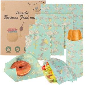 Bienenwachstücher 6er-Set,Bienenwachstuch,Bienenwachstücher für Lebensmittel ,Nachhaltige Frischhaltefolie,Bienenwachs-Wraps Lebensmittel-Wraps,Wiederverwendbares Wachspapier Sandwich Wraps...