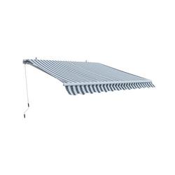 Alu Markise grau / weiß 3 x 2,5 m Gelenkarmmarkise